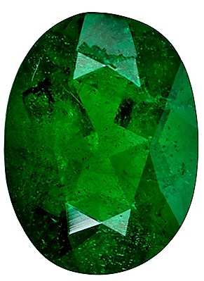 Natural 0.74 carat Emerald Gemstone, Oval shape, 7 x 5.2  mm
