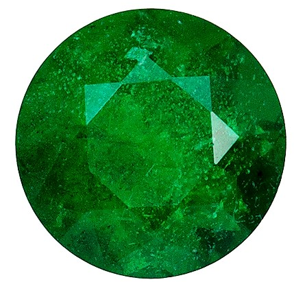 Natural 1.33 carat Emerald Gemstone, Nice SIze in Round shape, 6.9 mm