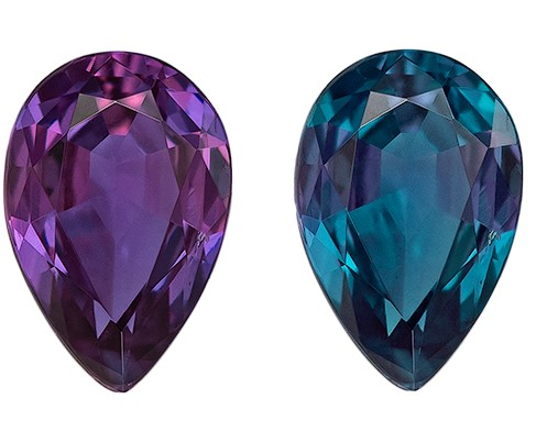 Natural Alexandrite Pear Shaped Gemstone, 0.33 carats, 5.5 x 3.6mm - Super Great Buy