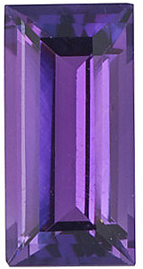 Natural Amethyst Gemstone, Baguette Shape, Grade AAA, 5.00 x 3.00 mm Size, 0.3 carats