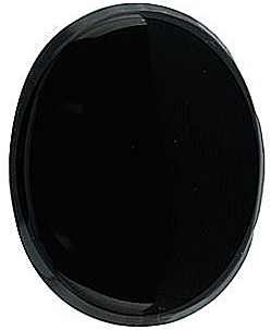 Natural Black Onyx Gem, Oval Shape Flat Top Hole Top, Grade AA, 16.00 x 12.00 mm in Size