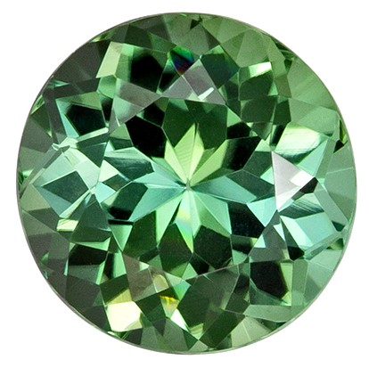 Unset Blue Green Tourmaline Gemstone, Round Cut, 1.42 carats, 7 mm , AfricaGems Certified - A Wonderful Find!