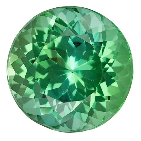 Natural Blue Green Tourmaline Gemstone, Round Cut, 7.45 carats, 12.2 mm , AfricaGems Certified - A Impressive Gem