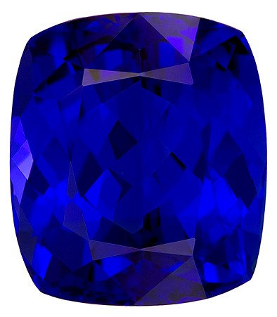 Natural Vivid Tanzanite Gemstone, Cushion Cut, 18.76 carats, 16.5 x 14.5 mm , AfricaGems Certified - A Great Buy