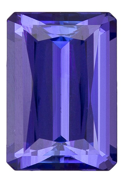 Natural Vivid Tanzanite Gemstone, Emerald Cut, 2.62 carats, 9.3 x 6.5 mm , AfricaGems Certified - A Beauty of A Gem