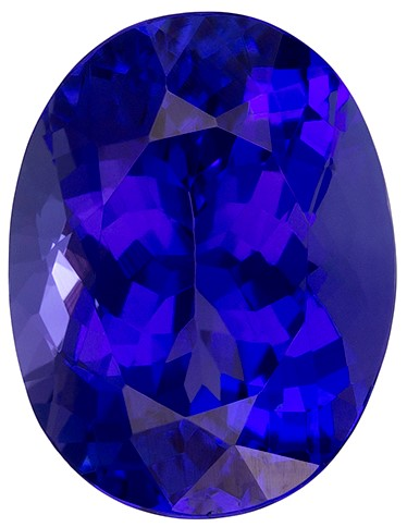 Natural Vivid Tanzanite Gemstone, Oval Cut, 2.82 carats, 10 x 7.6 mm , AfricaGems Certified - A Great Buy