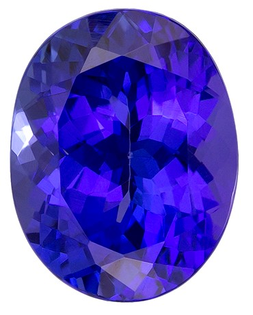 Natural Vivid Tanzanite Gemstone, Oval Cut, 2.4 carats, 9 x 7.1 mm , AfricaGems Certified - A Great Colored Gem