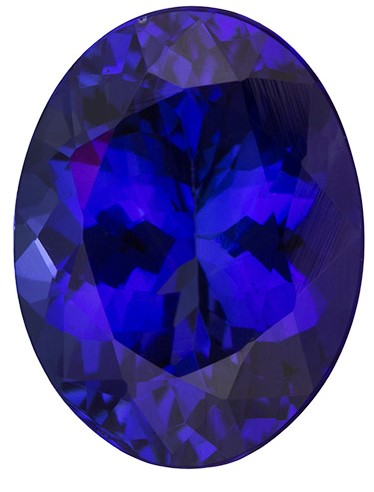 Natural Vivid Tanzanite Gemstone, Oval Cut, 2.33 carats, 9 x 7 mm , AfricaGems Certified - A Great Buy