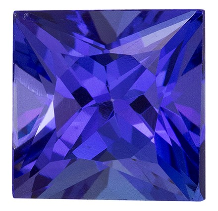 Natural Vivid Tanzanite Gemstone, Princess Cut, 2.44 carats, 7.2 mm , AfricaGems Certified - A Fine Gem