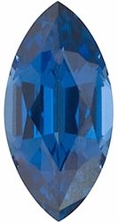 Natural Blue Sapphire Gem, Marquise Shape, Grade AAA, 3.50 x 1.50 mm in Size, 0.06 Carats