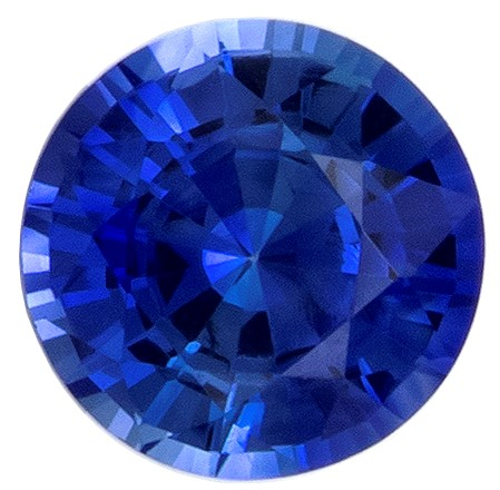 Natural  Blue Sapphire Gemstone, 0.46 carats, Round Shape, 4.5 mm, Super Great Buy