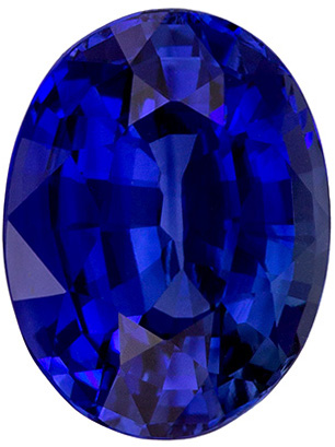 Natural Blue Sapphire Gemstone 5.1 carats, GRS Certified Oval Cut, 11.43 x 8.66 x 6.05 mm