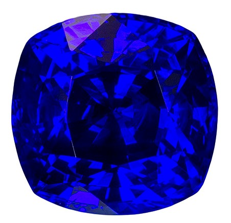 Natural Blue Sapphire Gemstone, Cushion Cut, 1.92 carats, 6.87 x 6.74 x 4.89 mm , GIA Certified - A Great Deal