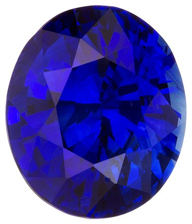 Natural Blue Sapphire Gemstone, Oval Cut, 4.09 carats, 9.83 x 8.36 x 6.23 mm , GIA Certified - A Low Price