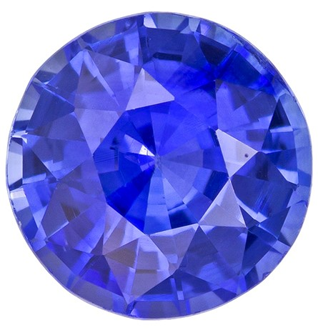 Natural Blue Sapphire Gemstone, Round Cut, 1.6 carats, 6.7 mm , AfricaGems Certified - A Great Buy