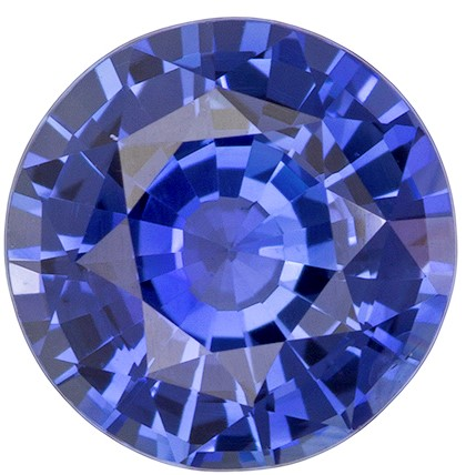 Natural Blue Sapphire Gemstone, Round Cut, 1.85 carats, 7.3 mm , AfricaGems Certified - A Low Price