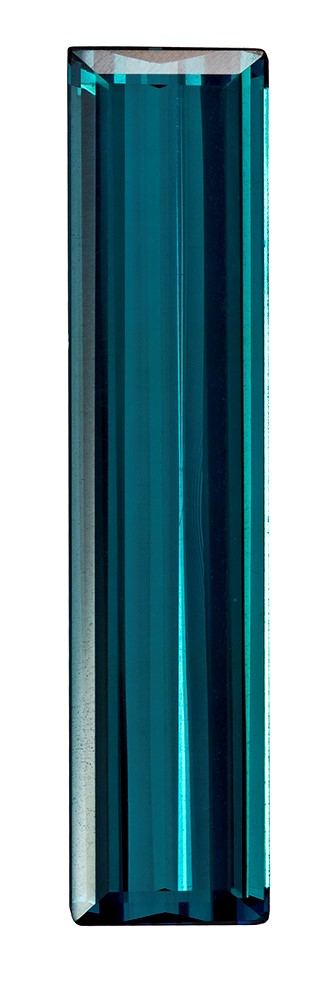 Natural Blue Tourmaline Gemstone, Emerald Cut, 3.77 carats, 23.1 x 5.3 mm , AfricaGems Certified - A Hard to Find Gem