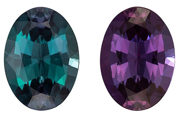 Natural Color Change Alexandrite Gemstone, 1.31 carats, Oval Cut, 8.26 x 5.98 x 3.67 mm, Great Deal on This Gem with Gubelin