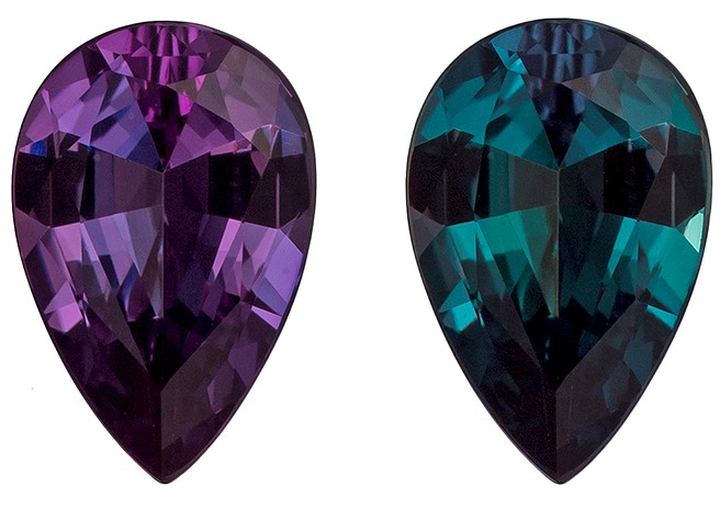 Natural Color Change Alexandrite Gemstone, Pear Cut, 0.61 carats, 7.2 x 4.8 mm , AfricaGems Certified - A Great Buy