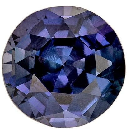 Natural Color Change Sapphire Round Shaped No Heat Gemstone with GIA Cert, 1.04 carats, 6.01 x 6.1 x 3.85 mm - Super Great Buy