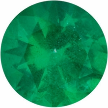 Genuine Gemstone  Emerald Gem, Round Shape Diamond Cut, Grade AA, 5.00 mm in Size, 0.42 Carats