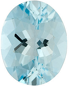 Loose Standard Size Natural Aquamarine Gem in Oval Shape Grade B, 7.00 x 5.00 mm in Size, 0.72 carats