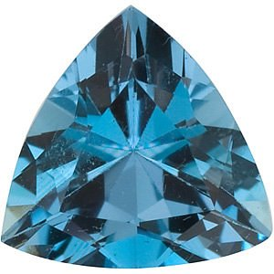 Natural Faceted Aquamarine Loose Gemstone in Trillion Shape Grade AAA, 5.50 mm in Size, 0.45 carats