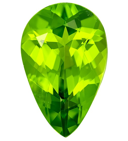 Natural Gem Peridot Pear Shaped Gemstone, 4.63 carats, 14.1 x 9.1mm - Low Price on