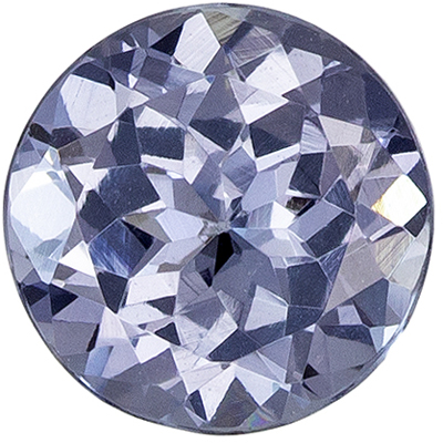 Natural Gemstone Gray Spinel Round Cut, 0.92 carats, 6 mm