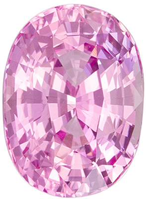Natural Gemstone Pink Sapphire Oval Cut, 2.1 carats, 8.4 x 6.2 mm