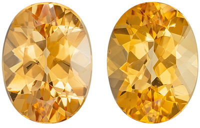 Natural Gemstones Pair of Precious Topaz Oval No Heat, 2.92 carats, 8 x 6 mm