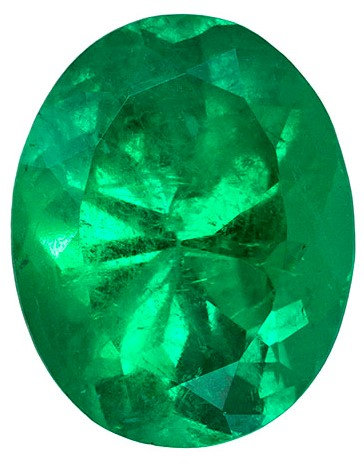 Natural Vibrant Emerald Gemstone, Oval Cut, 3.28 carats, 11.1 x 8.8 mm , AfricaGems Certified - A Hard to Find Gem