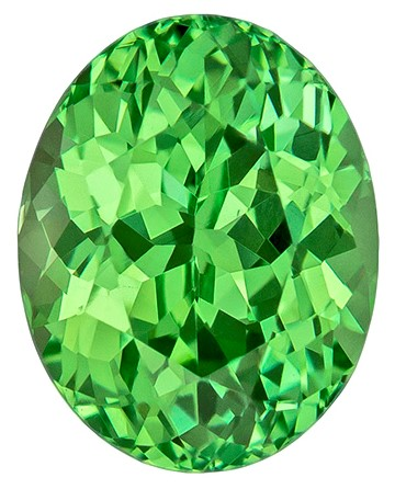 Vivid Mint Green Garnet Gemstone, Oval Cut, 2.21 carats, 8.3 x 6.6 mm , AfricaGems Certified - A Low Price