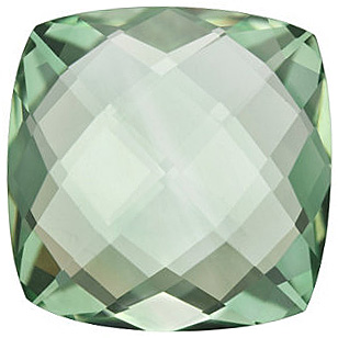 Natural Green Quartz Stone, Antique Square Shape Double Sided Checkerboard, Grade AA, 16.00 mm in Size, 15.75 Carats