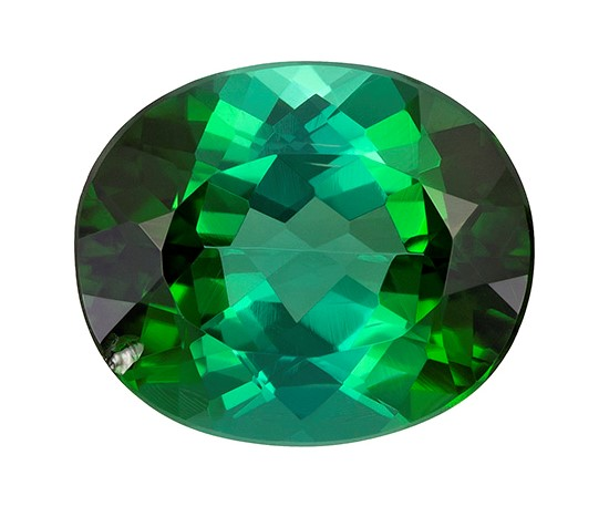 Natural Green Tourmaline Gemstone, Oval Cut, 3.08 carats, 10.3 x 8.6 x 5.2 mm , AfricaGems Certified - A Great Deal