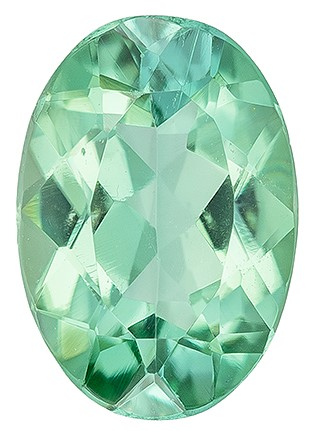 Natural Green Tourmaline Gemstone, Oval Cut, 0.94 carats, 7.9 x 5.5 mm , AfricaGems Certified - A Deal