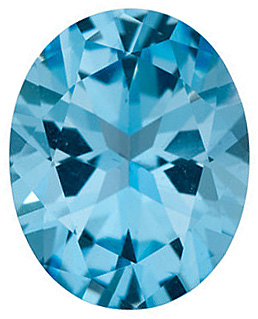 Natural Ice Blue Passion Topaz Gem, Oval Shape, Grade AAA, 6.00 x 4.00 mm in Size
