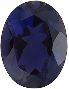 Natural Iolite Stone, Oval Shape, Grade AAA, 8.00 x 6.00 mm in Size, 1.1 carats