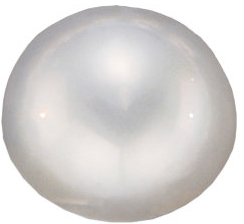 Loose Cultured Genuine Beautiful Round Shape Mabe White Cultured Pearl Grade AA, 14.50 mm in Size
