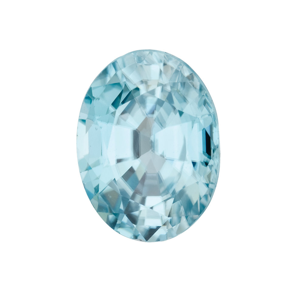 Natural Loose Standard Size Oval Shape Blue Zircon Gemstone Grade AA, 5.00 x 3.00 mm in Size,  0.37 Carats