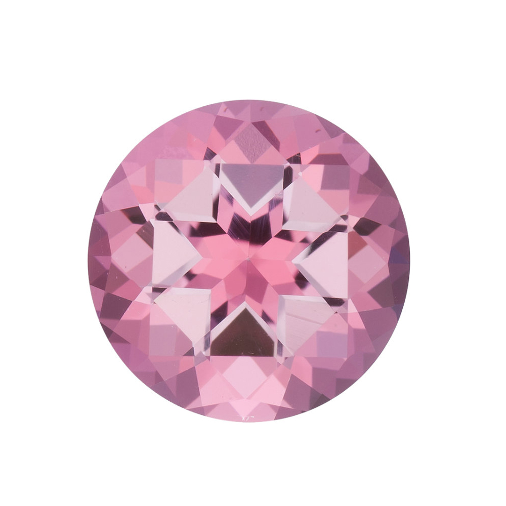 Natural Loose Standard Size Round Shape Baby Pink Passion Topaz Gemstone Grade AAA, 10.00 mm in Size