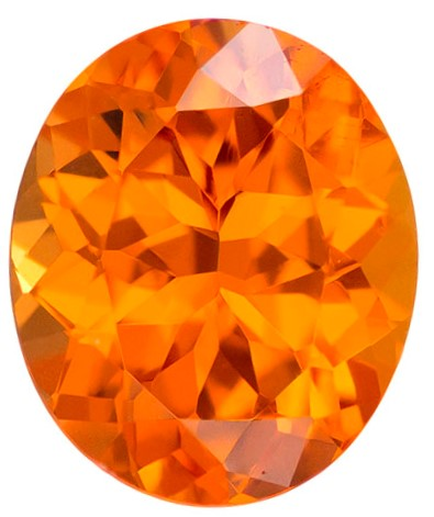 Natural Orange Spessartite Gemstone, Oval Cut, 2.52 carats, 8.8 x 7.3 mm , AfricaGems Certified - A Low Price