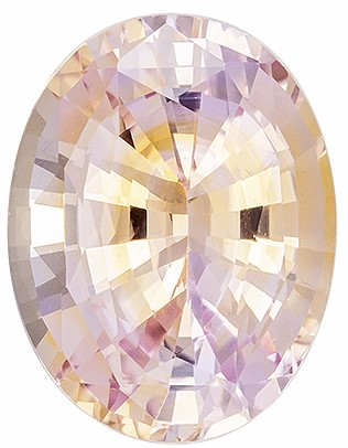 A Beauty Rare Pinky Peach Sapphire Gemstone, 4.32 carats, Oval Shape, 11.2 x 8.7 mm, Low Price