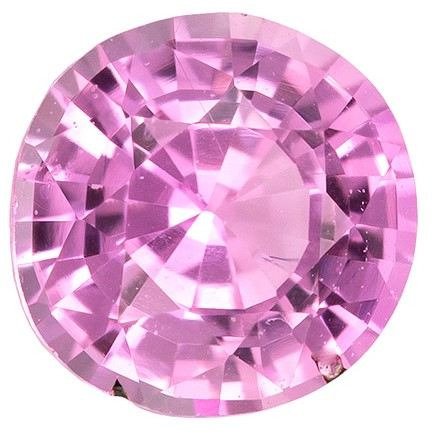 Loose Pink Sapphire Gemstone, 0.35 carats, Round Cut, 4.1 mm, Great Deal on This Gem
