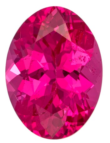Natural Vivid Hot Pink Spinel Gemstone, Oval Cut, 0.78 carats, 6.6 x 4.9 mm , AfricaGems Certified - A Great Buy