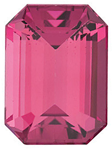 Natural Pink Tourmaline Stone, Emerald Shape, Grade AAA, 6.00 x 4.00 mm in Size, 0.6 Carats