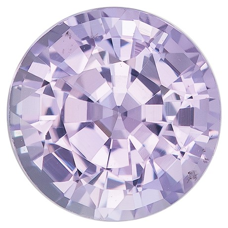 Lilac Purple Sapphire Gemstone, Round Cut, 1.51 carats, 6.5 mm , AfricaGems Certified - Truly Stunning