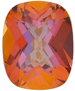 Natural Quality Loose Cut Antique Square Shape Mystic Sunrise Topaz Gemstone Grade AAA, 10.00 x 8.00 mm in Size, 3.6 Carats