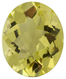 Natural Quality Loose Cut Oval Shape Checkerboard Lemon Quartz Gem Grade AA, 10.00 x 8.00 mm in Size, 2.6 Carats