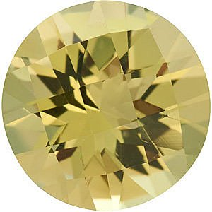 Natural Quality Loose Cut Round Shape Checkerboard Lemon Quartz Gemstone Grade AA, 10.00 mm in Size, 3 Carats